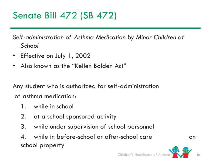Senate Bill 472 (SB 472)