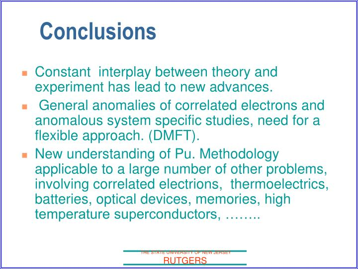 Constant  interplay between theory and experiment has lead to new advances.