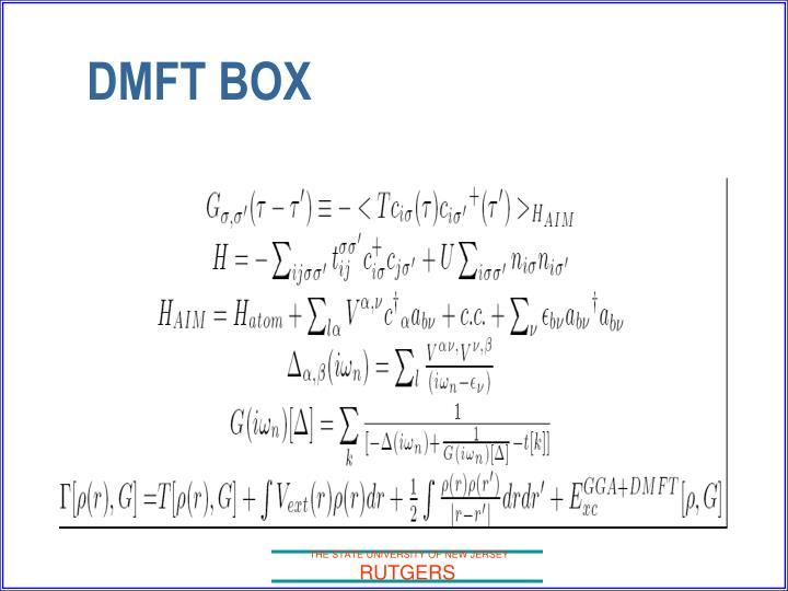 DMFT BOX