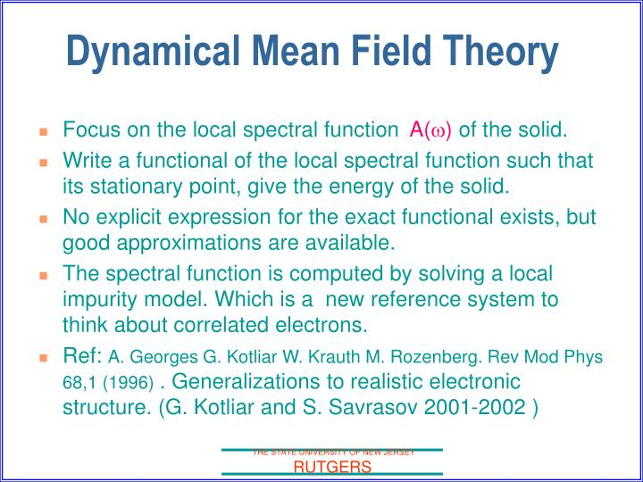 Focus on the local spectral function
