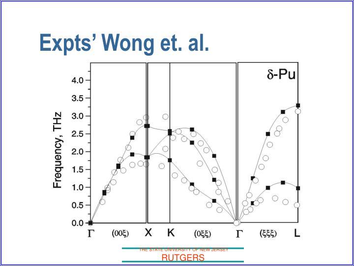 Expts' Wong et. al.