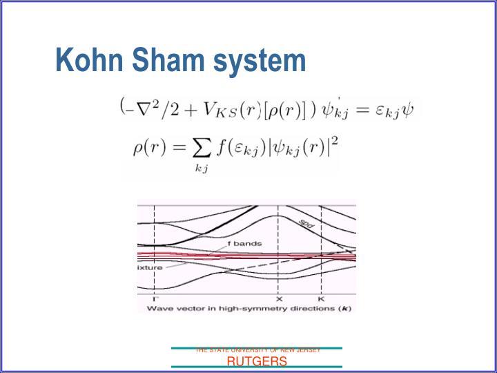 Kohn Sham system