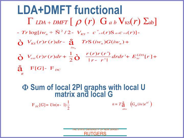 LDA+DMFT functional