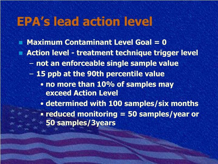 EPA's lead action level