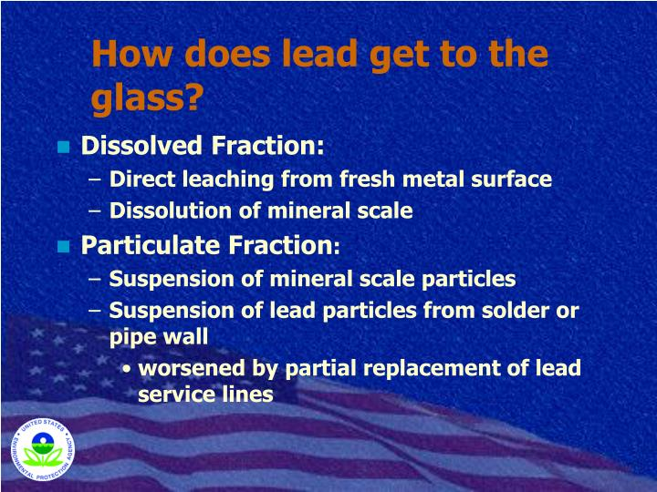 How does lead get to the glass?