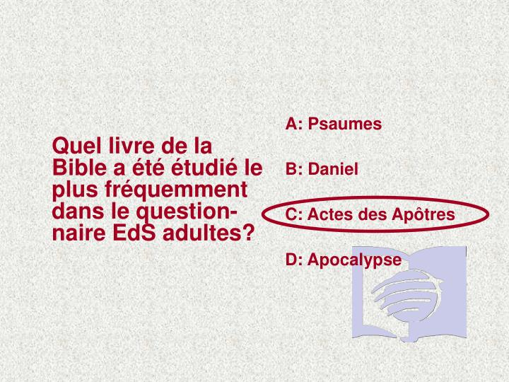 A: Psaumes
