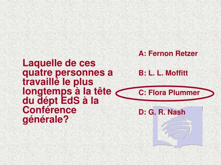 A: Fernon Retzer