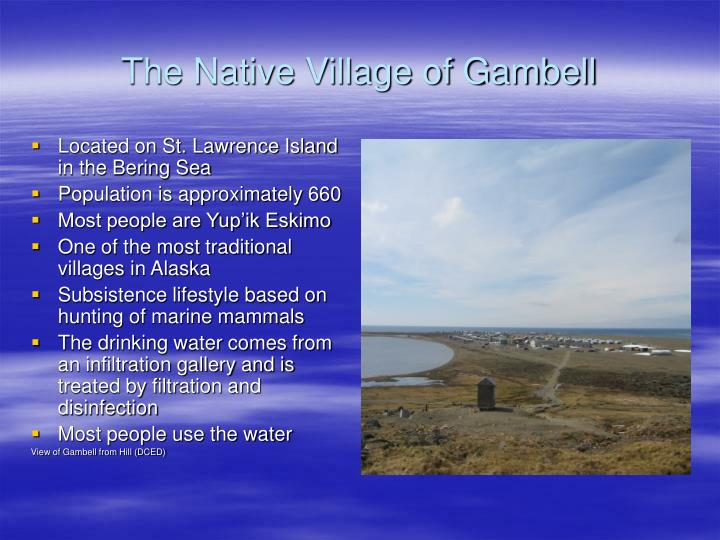 The Native Village of Gambell