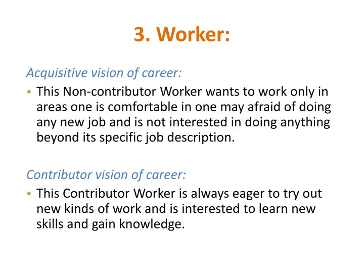 3. Worker: