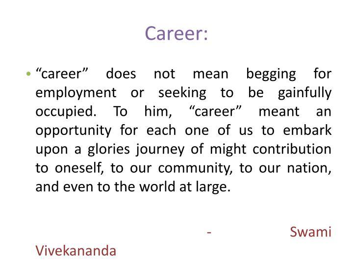 Career: