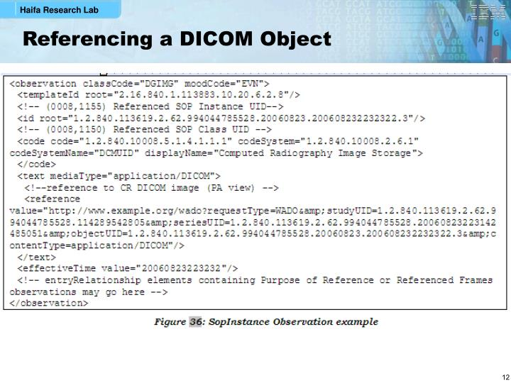 Referencing a DICOM Object