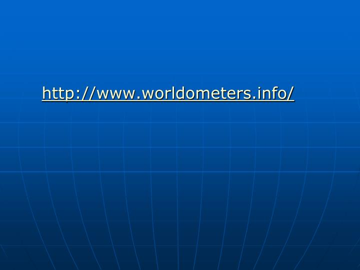 http://www.worldometers.info/