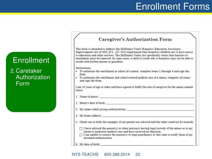 Enrollment Forms