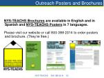 outreach posters and brochures
