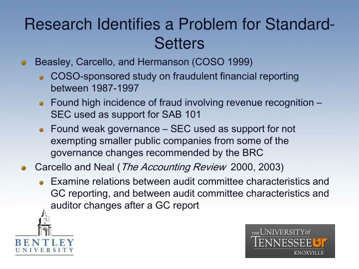 Research Identifies a Problem for Standard-Setters