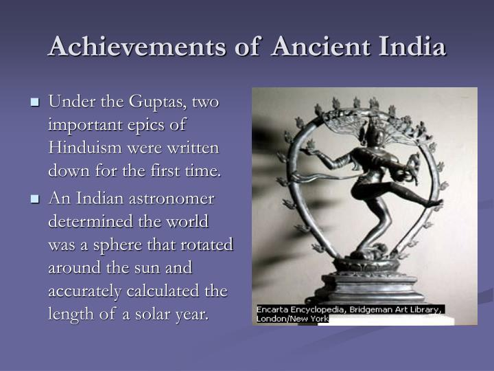 Achievements of Ancient India