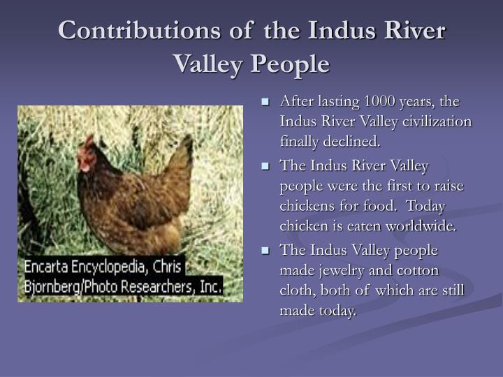Contributions of the Indus River Valley People