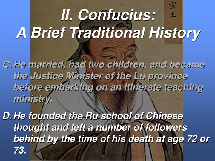 II. Confucius: