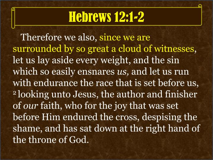 Hebrews 12 1 2