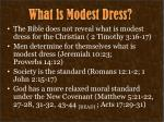 what is modest dress3
