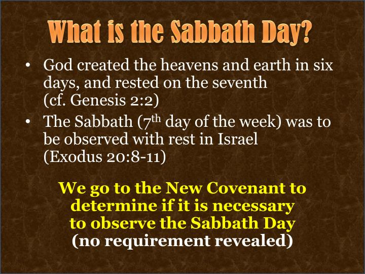 What is the Sabbath Day?