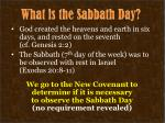 what is the sabbath day1