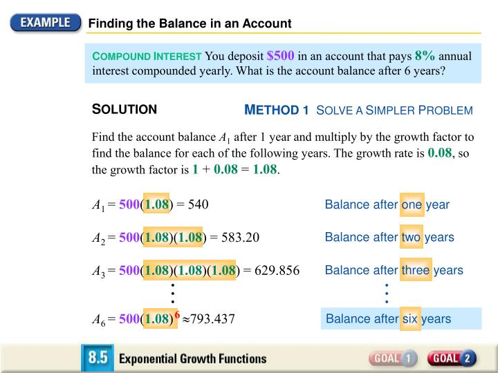 Finding the Balance in an Account