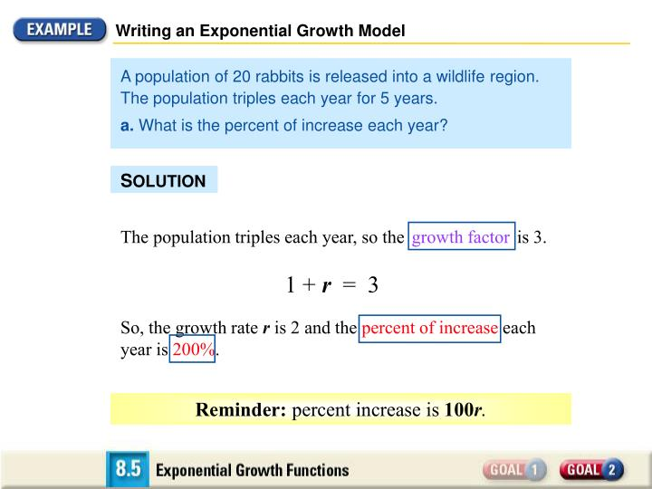 Writing an Exponential Growth Model