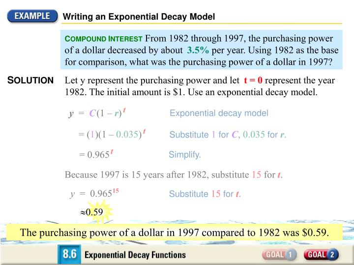 Writing an Exponential Decay Model