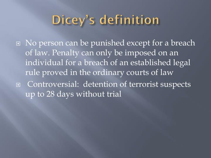 Dicey's
