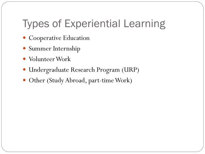 Types of experiential learning