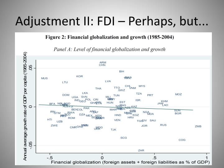 Adjustment II: FDI – Perhaps, but...
