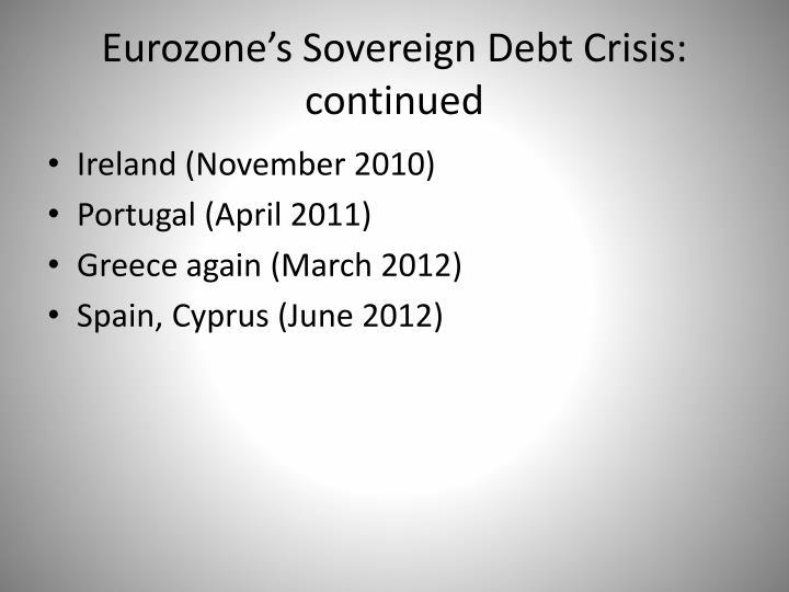 Eurozone's