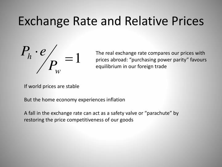 Exchange Rate and Relative Prices