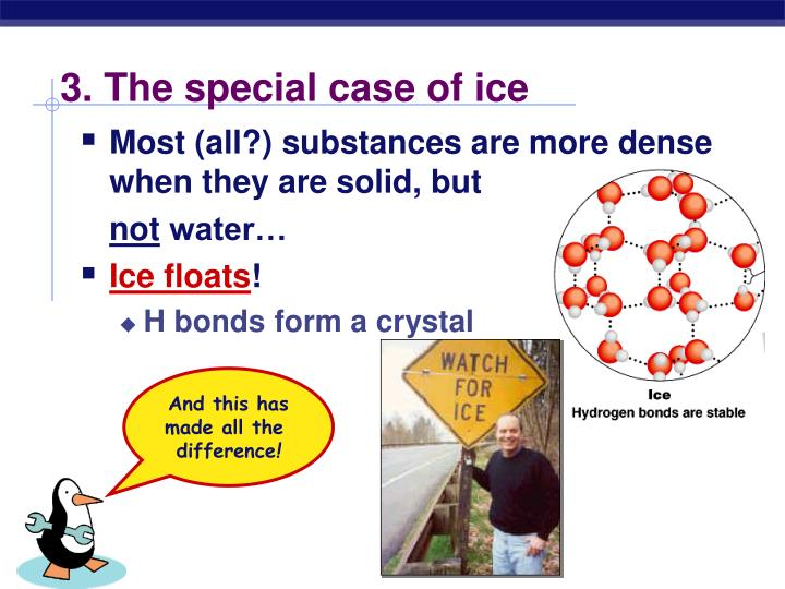3. The special case of ice