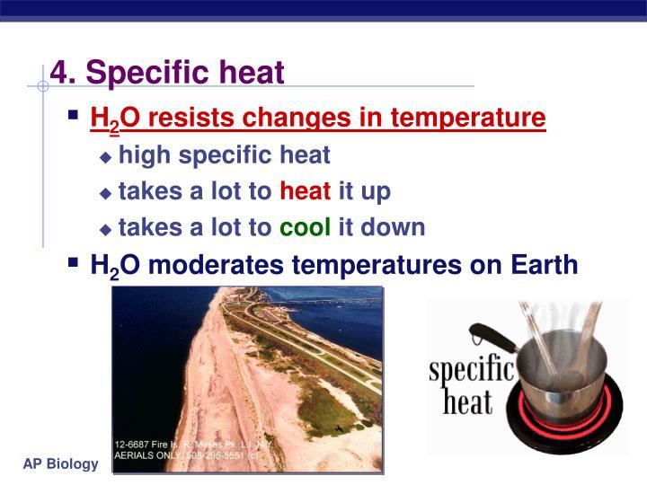 4. Specific heat