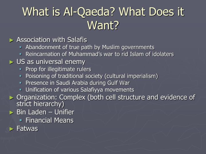 What is Al-Qaeda? What Does it Want?