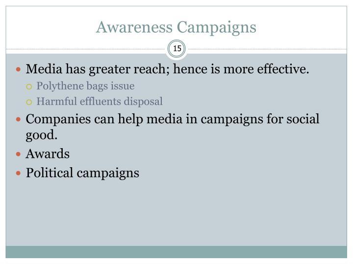 Awareness Campaigns