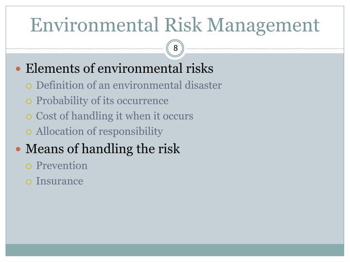 Environmental Risk Management