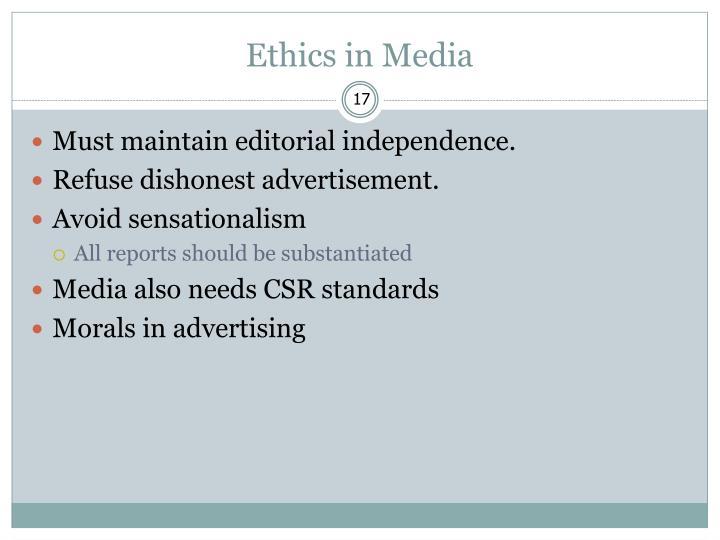 Ethics in Media