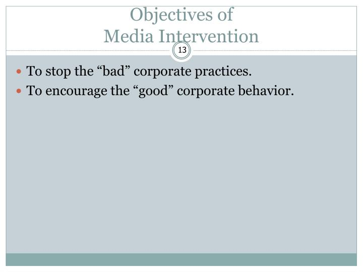 Objectives of