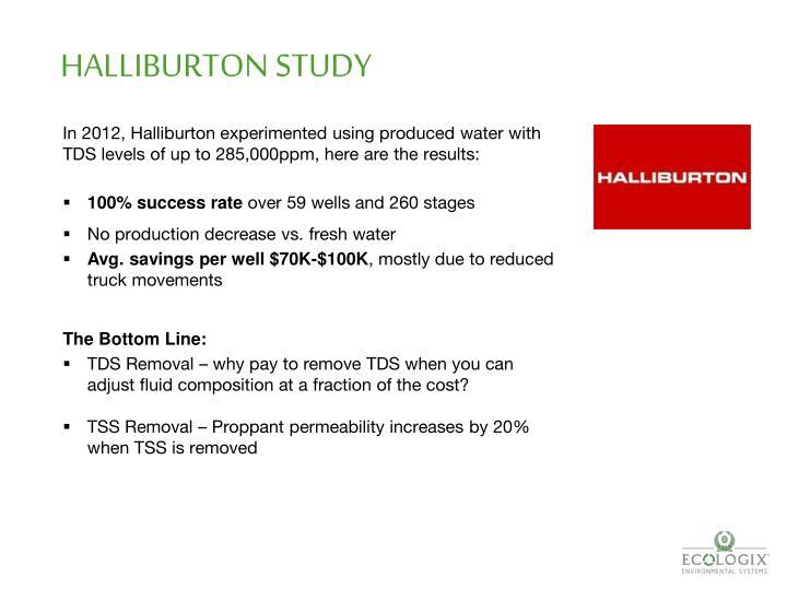 HALLIBURTON STUDY
