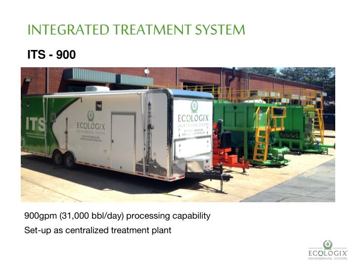 INTEGRATED TREATMENT SYSTEM
