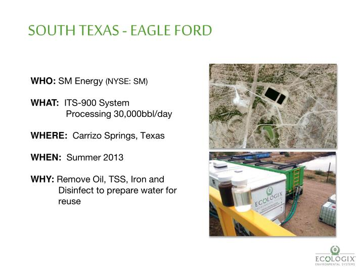 SOUTH TEXAS - EAGLE FORD
