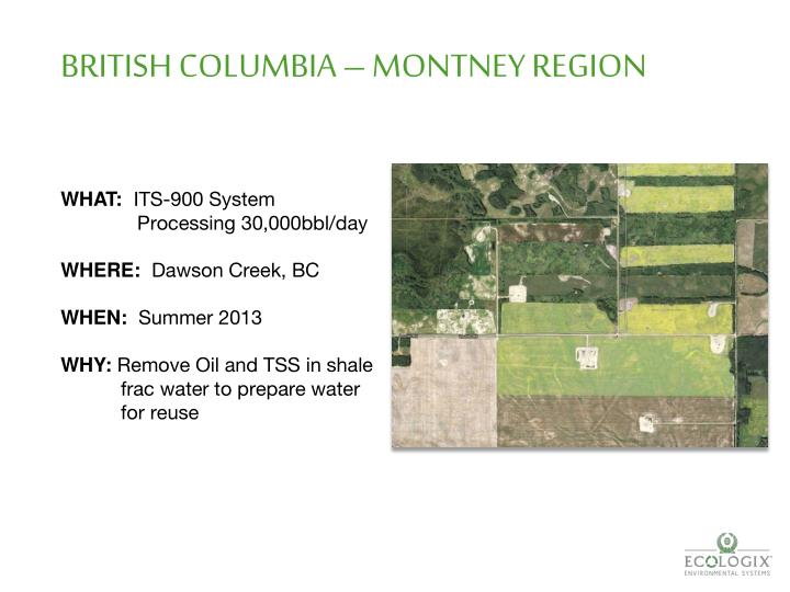 BRITISH COLUMBIA – MONTNEY REGION