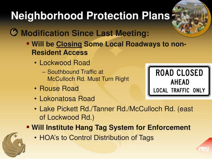 Neighborhood Protection Plans