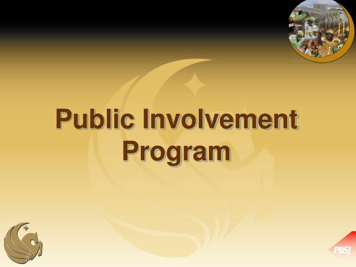 Public Involvement Program