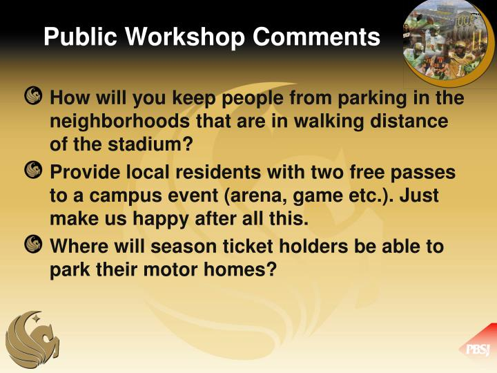 Public Workshop Comments