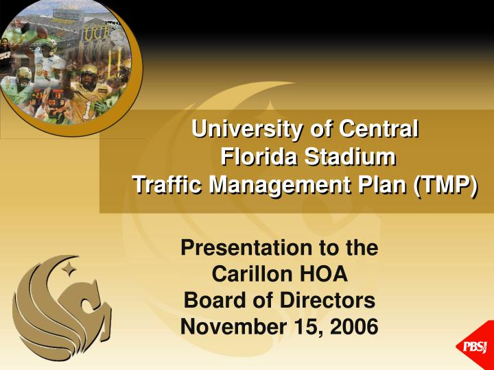 University of central florida stadium traffic management plan tmp