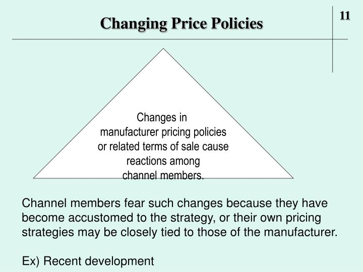 Changing Price Policies